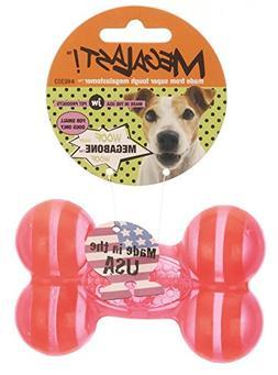 JW Pet Company Megalast Bone Dog Toy, Small, Colors Vary