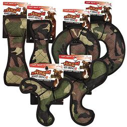 Zanies 12 Piece MegaRuffs Camo Toy Pack, Green