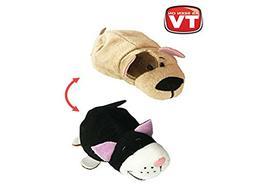 "FlipaZoo Mini FlipZee 5"" Pocket Size Stuffed Animal - Bulldo"