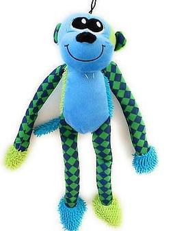 Monkey Dog Squeak Toy Royal Blue, Teal