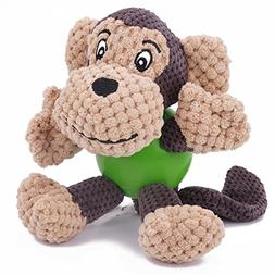 EETOYS Durable Squeaky Plush Dogs Toys with Chew Guard Rubbe