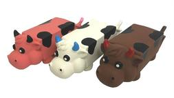 multipet moo mates cow milk carton Dog Toy