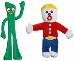 Multipet Mr. Bill and Gumby Licensed Retro Dog Toy Combo Pac