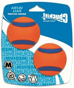 New 2-Pack Chuckit Ultra Dog Ball Bounces and Floats Bright