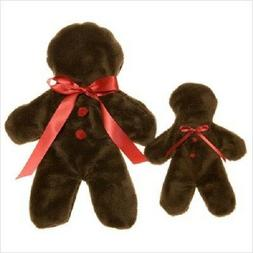 NEW Brown Gingerbread Man  Holiday Unstuffed Dog Toy by West
