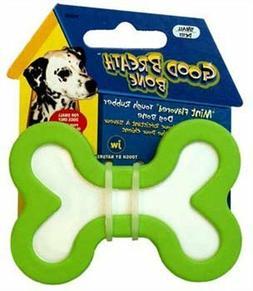 NEW JW Pet Company Good Breath Bone Dog Toy, Small   -FREE S