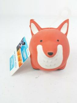 NEW Dog Puppy Toy Fox Wolf Animal ROUND BALL SQUEAKY LATEX D