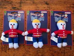"NEW LOT of 3 Catnip Mr Bill 4"" Cat Toy By Multipet ""Oh No!"