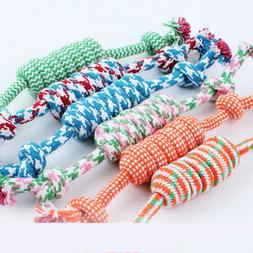 NEW Puppy Dog Pet Chew Toy Cotton Braided Bone Tug Play Game