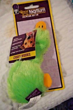 """NWT MULTIPET DOG TOY DUCK   DUCKWORTH WITH SQUEAKER 4""""  GREE"""