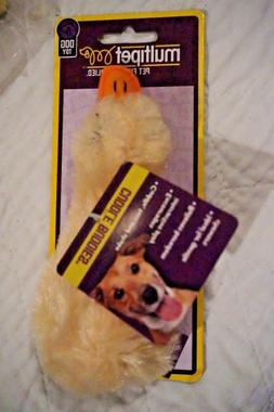 """NWT MULTIPET DOG TOY DUCK   DUCKWORTH WITH SQUEAKER 4""""  YELL"""