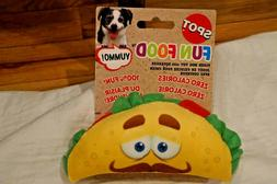 NWT SPOT DOG TOY PLUSH TACO WITH SQUEAKER