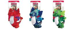 NWT KONG Dragon Knots Dog Toy Medium/Large Chew Plush Blue,