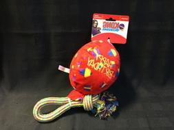 KONG Occasions Happy Birthday Large Balloon Rope for Dog Toy