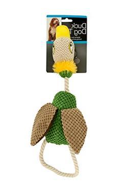 Bulk Buys OL386-4 Fabric Duck Dog Toy, 4 Piece