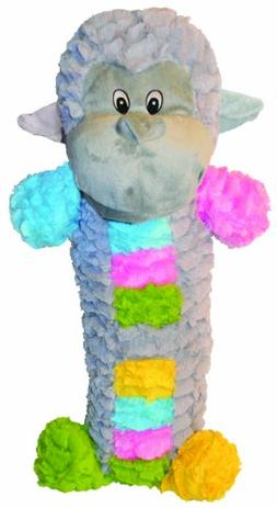 Patchwork Pet Pastel Monkey Stick 35-Inch Squeak Toy for Dog
