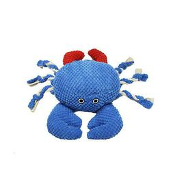 Patchwork Pet Nautical 15-Inch Crab Dog Chew Toy with Rope L