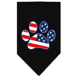 Mirage Pet Products Patriotic Paw Screen Print Bandana, Smal