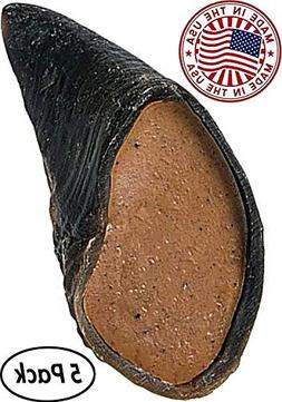Peanut Butter Filled Cow Hooves for Dogs - Made in the USA B