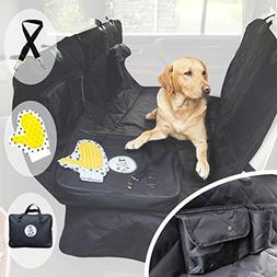 Pet Car Seat Cover for Dogs - Heavy Duty Luxury Rear Seat Ha