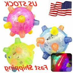 Pet Cat Dog Flashing Ball Toys For Games LED Pet Play Chew T