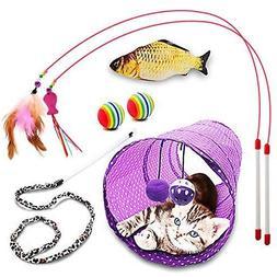Pet Cat Kitten Dog Puppy Rabbit Folding Tunnel Game Play Toy