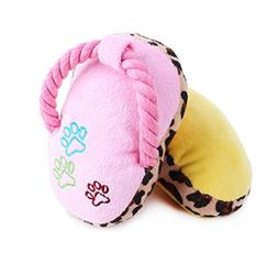 Stock Show 2Pcs Pet Chew Toys Plush Slipper Squeaker Sound T