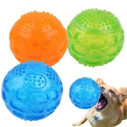 Pet Chew Toys Supplies Squeaky Dog Interactive Ball Durable
