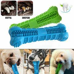 Pet Dog Boneshape Toothbrush Brushing Chew Toy Stick Teeth C