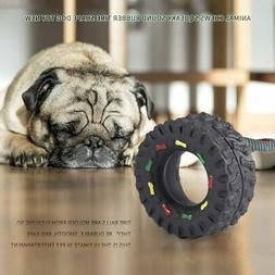 Pet Dog Cat Animal Chews Squeaky Sound Rubber Tire Shape Dog