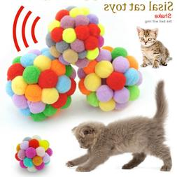 Pet Dog Cat Plush Bouncy Balls For Cat Kitten Play Activity