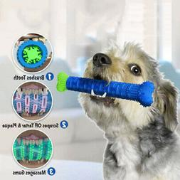 Dog Chew Toy Pet Molar Tooth Cleaner Brushing Stick Dog Toot