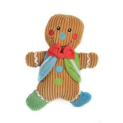Stock Show 1Pc Pet Dog Christmas Gingerbread Man Squeak Toy,