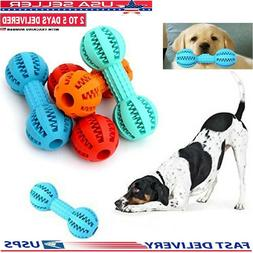 pet dog dumbbell toy teeth treat food