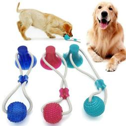 Pet Dog Floor Suction Cup Ball Puppy Cat Teeth Cleaning Chew