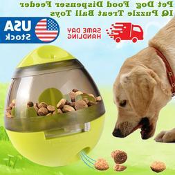 Pet Dog Interactive Tumbler Food Dispenser Feeder IQ Puzzle