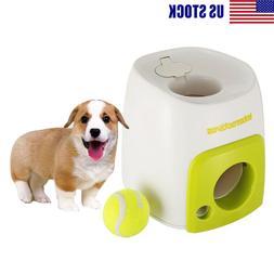 Dog Tennis Food Reward Machine Puppy Interactive Fetch Ball