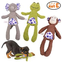 3 Pcs Dog Squeaky Toys Durable Plush Toy for Puppy Small Dog