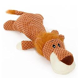 Stock Show 1Pc Pet Dog Squeak Toy, Plush Lying Animal Shape