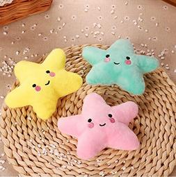 Stock Show 3Pcs Pet Dog Squeak Toys Plush Small Star Shape T