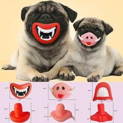 Pet Dog Teeth Funny Silicon Toy Chew Squeaker Squeaky Sound