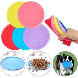 Pet Dog Toy Exercise Frisbee Toy Training Tool Silicone Pupp