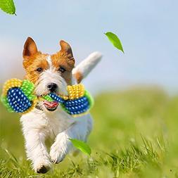 Ecosin Pet Dogs odontoprisis Toy Chews Cotton Rope Knot Ball