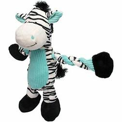 Charming Pet Products Pulleez Zebra Plush Dog Toy