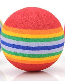 Pet Puppy Cat Ball Toy Rainbow Ball EVA Chewing Sound Dog To