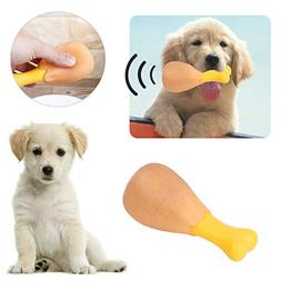 Bazzano Pet Squeak Chew Toy Funny Chicken Leg for Small Larg