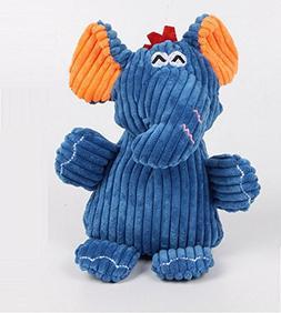 Stock Show 1Pc Pet Squeak Toy, Corduroy Plush Elephant Shape