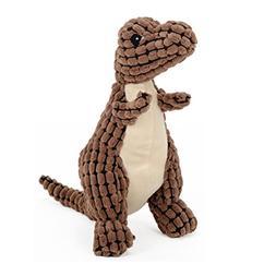 Stock Show 1Pc Pet Squeak Toy, Plush Dinosaur Shape Teeth Cl