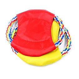 RUIYI Pet Training Cotton Rope Frisbee Puppy Chew Rope Toys