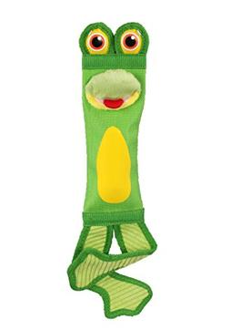 Petlou Fire Hose Frog 16-Inch Tug Dog Toys with Squeaks and